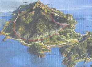 Veduta prospettica serbatoio-galleria per l'Isola d'Elba. (cliccare pe ingrandire)