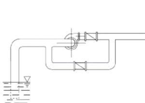 Condotta by-pass che mantiene il flusso d'acqua anche al momento dell'arresto pompa