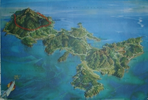 Veduta prospettica dell'isola d'Elba-