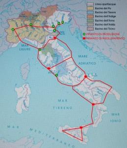 Esempio di rete acquedottistica nazionale