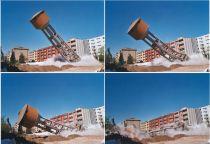 Una delle molte demolizioni degli inutili o dannosi serbatoi pensili già effettuate