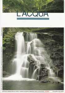 Copertina della rivista L'ACQUA  nella quale è pubblicato l'articolo sulle pompe a velocità variabile. 8 cliccare per ingrandire )