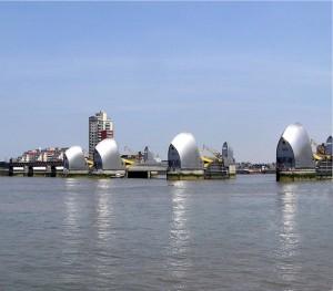 Lo sbarramento del Tamigi a sud di Londra
