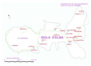 Planimetria indicativa dei laghetti in progetto all'Isola d'Elba