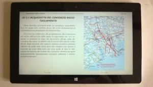 """Doppia pagina dell'Ebook """"ACQUEDOTTI - REALTA' E FUTURO"""" su monitor da 10"""""""